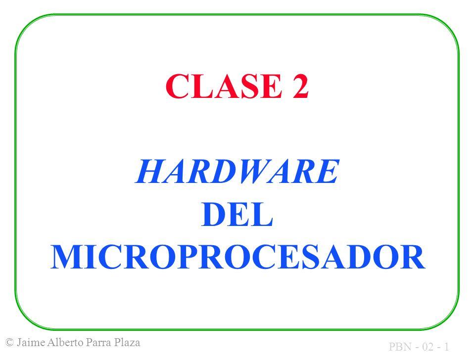 CLASE 2 HARDWARE DEL MICROPROCESADOR