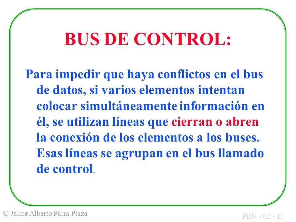 BUS DE CONTROL: