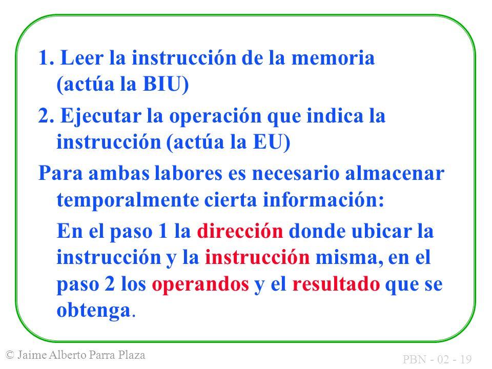 1. Leer la instrucción de la memoria (actúa la BIU)