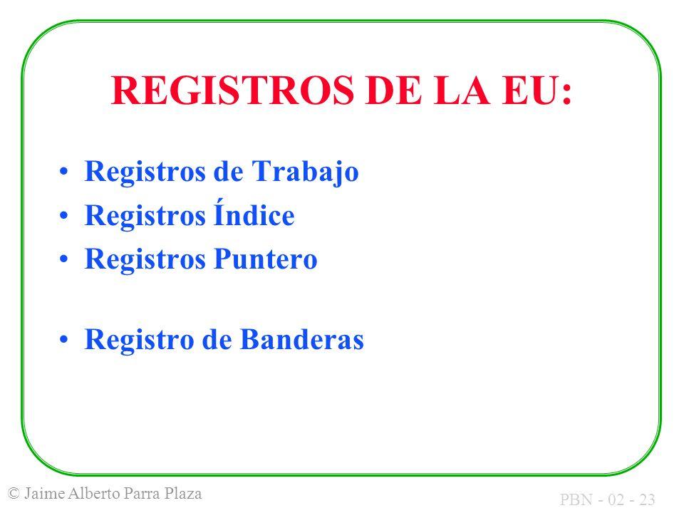 REGISTROS DE LA EU: Registros de Trabajo Registros Índice