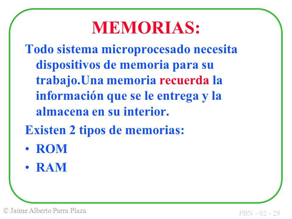 MEMORIAS: