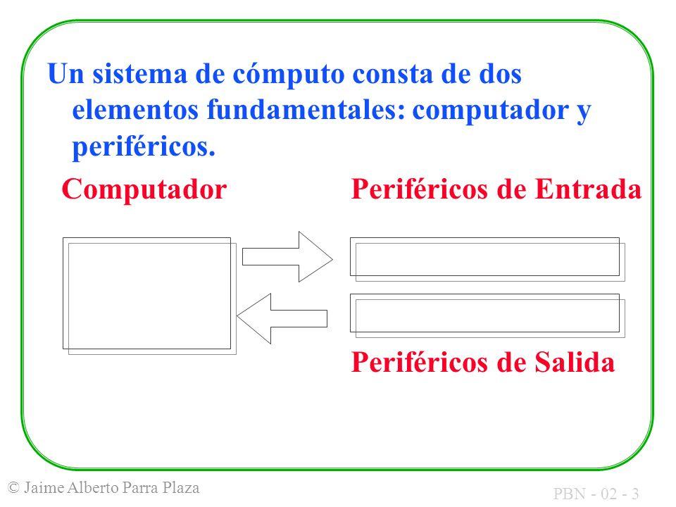 Un sistema de cómputo consta de dos elementos fundamentales: computador y periféricos.
