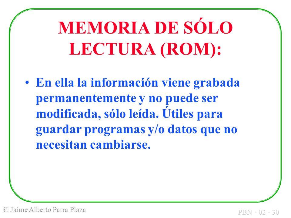 MEMORIA DE SÓLO LECTURA (ROM):