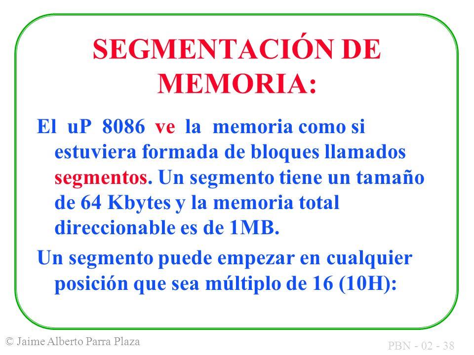 SEGMENTACIÓN DE MEMORIA:
