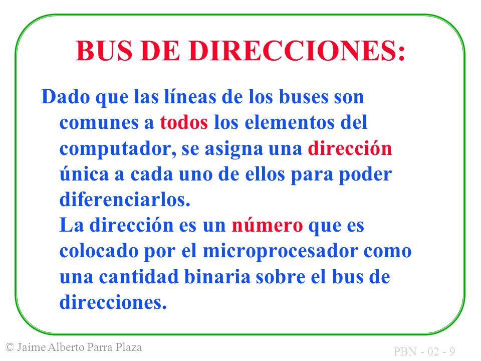 BUS DE DIRECCIONES: