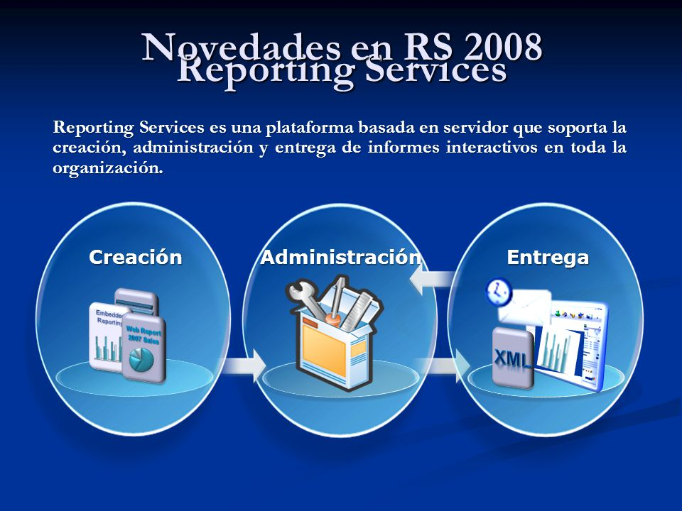 Novedades en RS 2008 Reporting Services