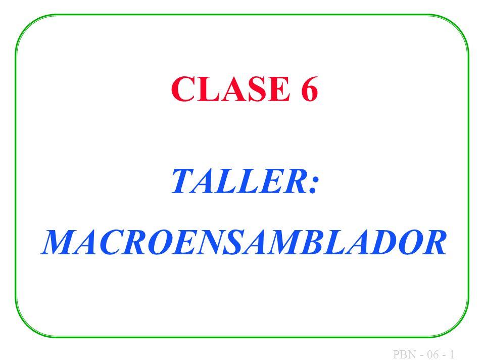 CLASE 6 TALLER: MACROENSAMBLADOR