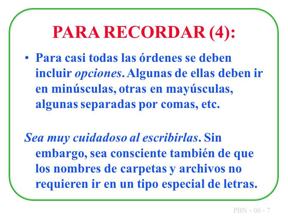 PARA RECORDAR (4):