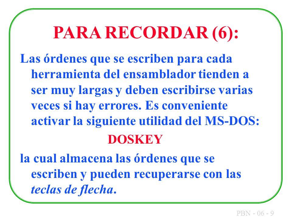 PARA RECORDAR (6):