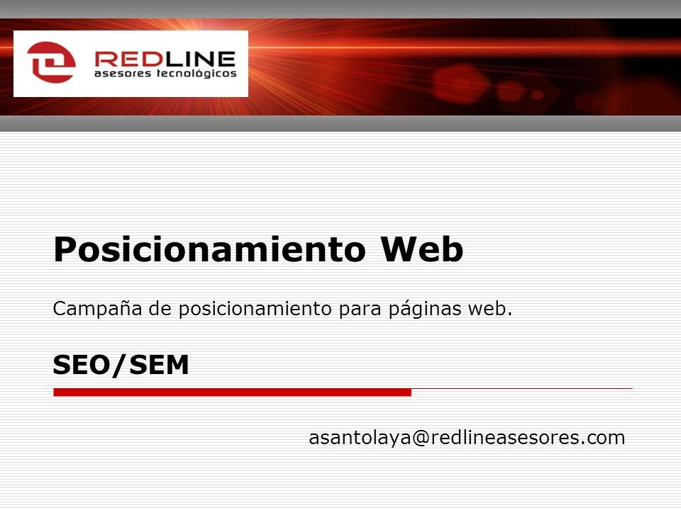 Posicionamiento Web Campaña de posicionamiento para páginas web