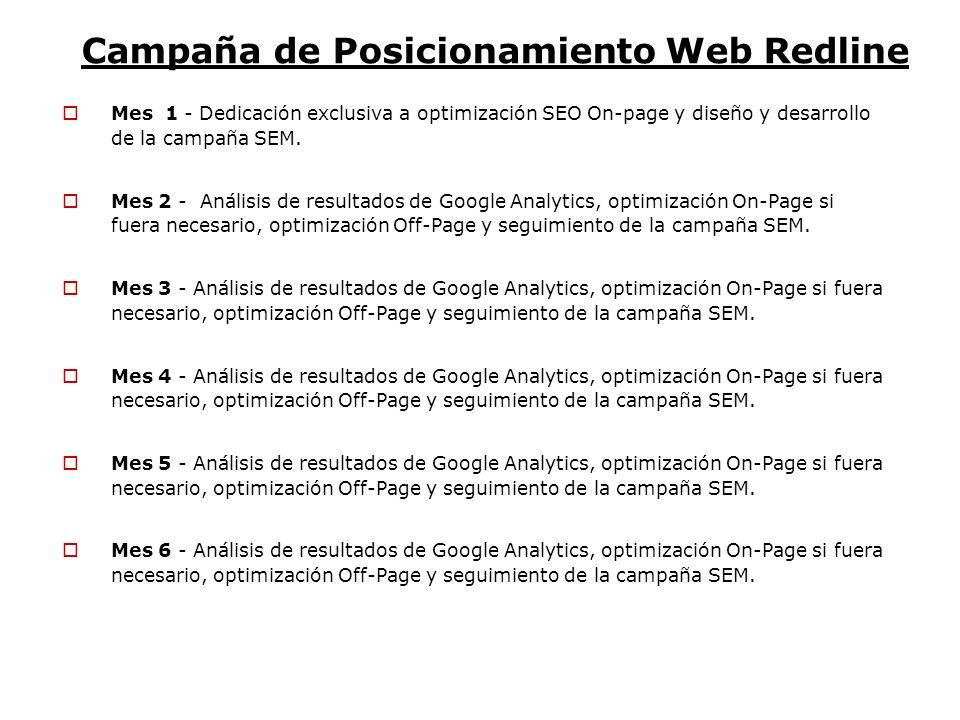 Campaña de Posicionamiento Web Redline