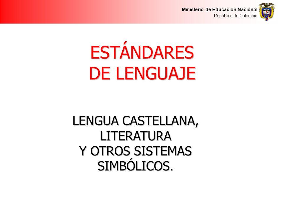 ESTÁNDARES DE LENGUAJE