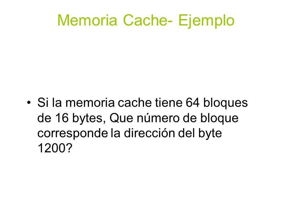 Memoria Cache- Ejemplo