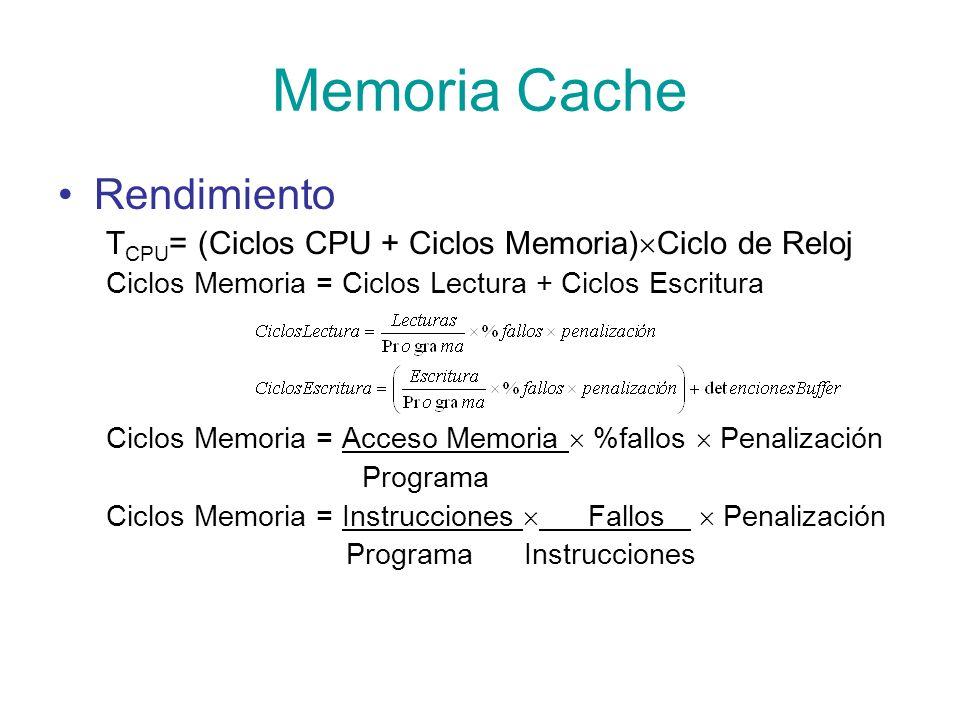 Memoria Cache Rendimiento