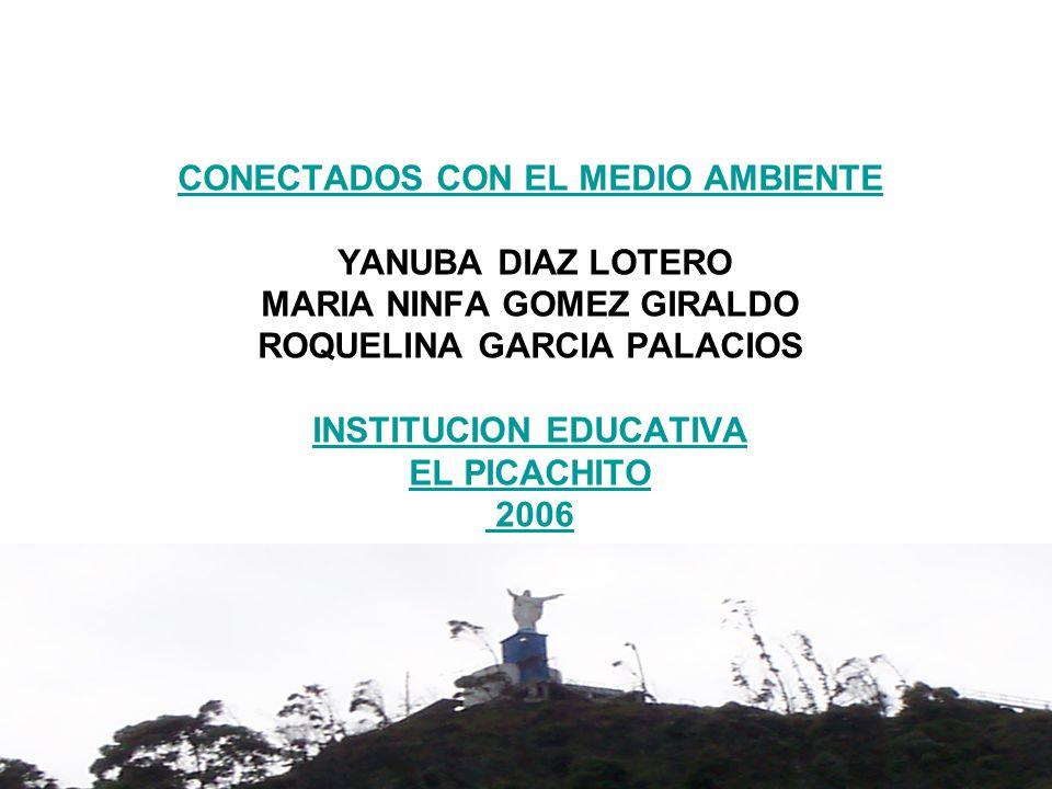 CONECTADOS CON EL MEDIO AMBIENTE YANUBA DIAZ LOTERO MARIA NINFA GOMEZ GIRALDO ROQUELINA GARCIA PALACIOS INSTITUCION EDUCATIVA EL PICACHITO 2006