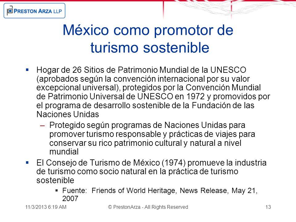 México como promotor de turismo sostenible