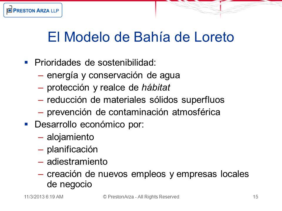 El Modelo de Bahía de Loreto