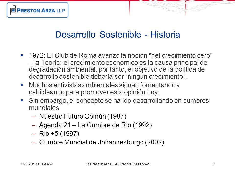 Desarrollo Sostenible - Historia