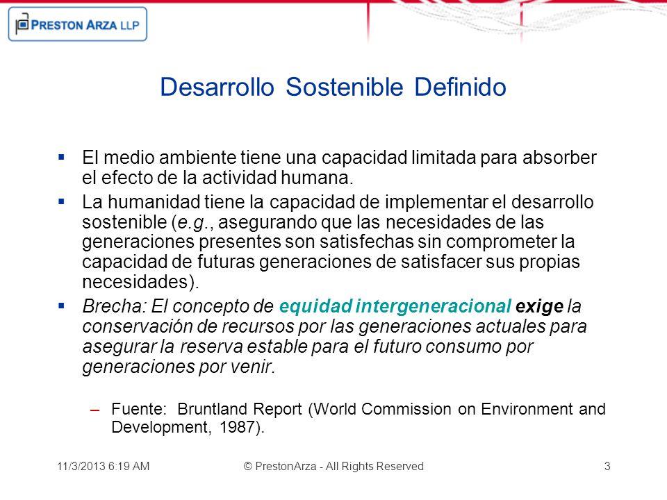 Desarrollo Sostenible Definido