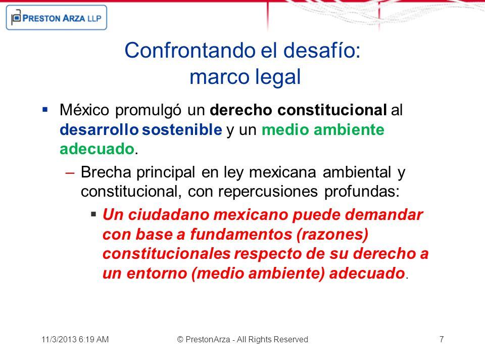 Confrontando el desafío: marco legal