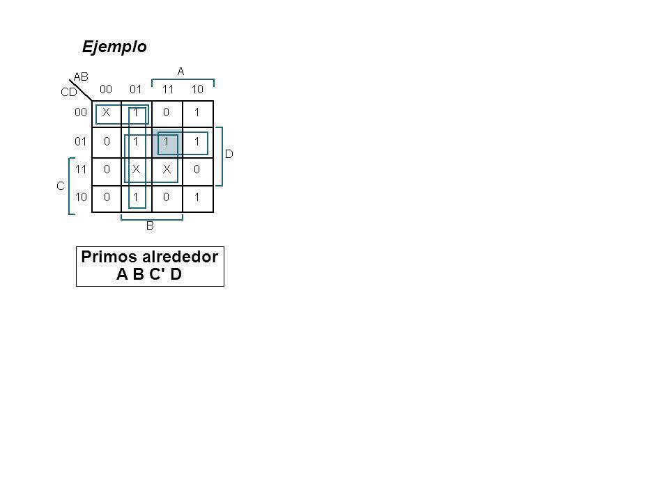 Ejemplo Primos alrededor A B C D