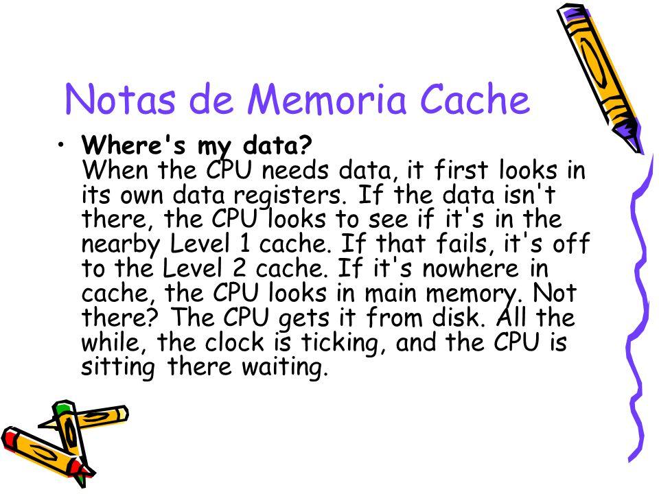 Notas de Memoria Cache