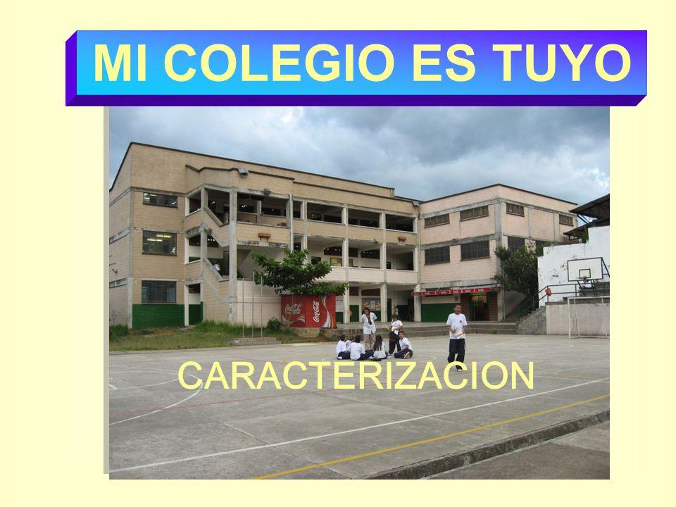 MI COLEGIO ES TUYO CARACTERIZACION