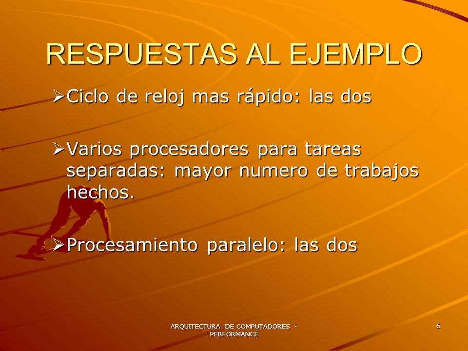 ARQUITECTURA DE COMPUTADORES - PERFORMANCE