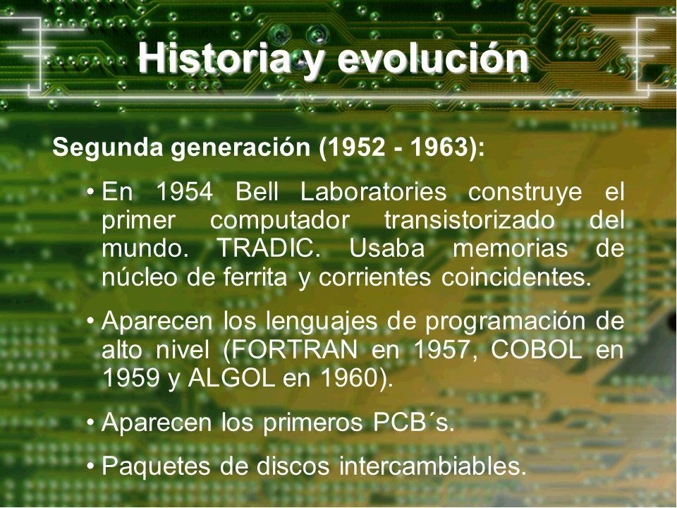 Historia y evolución Segunda generación (1952 - 1963):