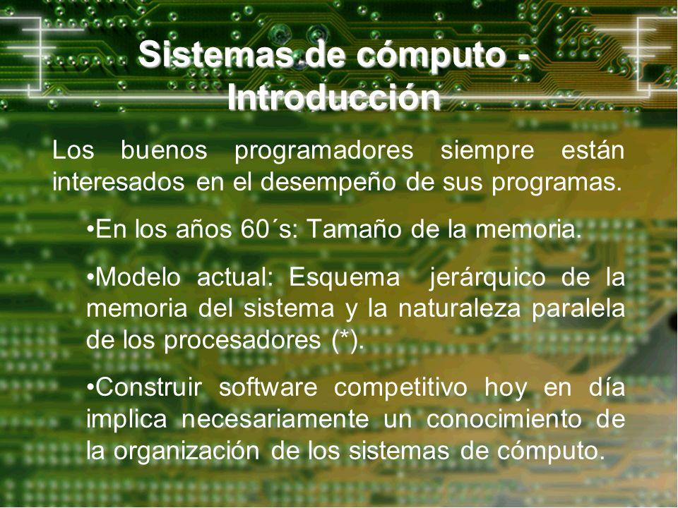 Sistemas de cómputo - Introducción