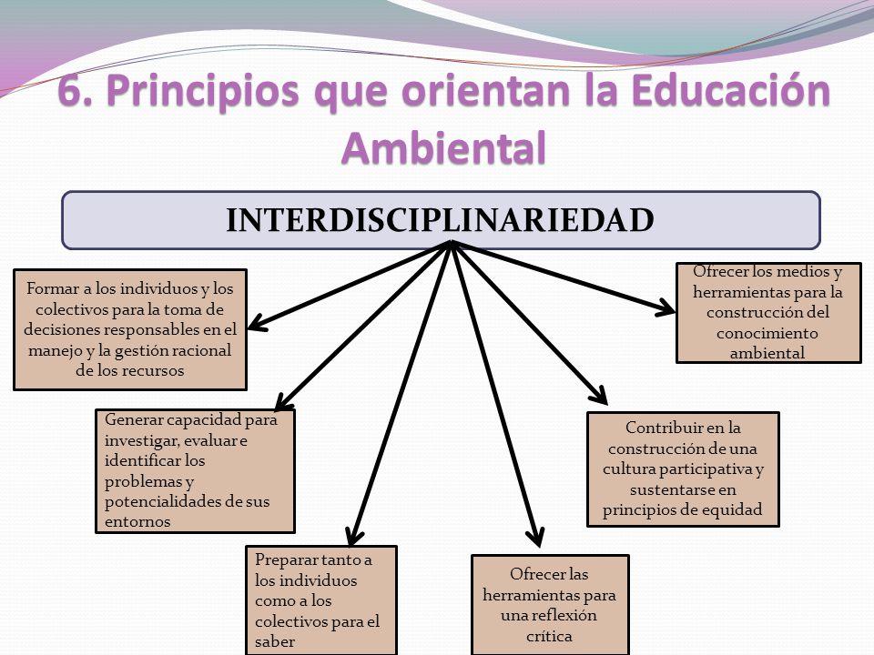 6. Principios que orientan la Educación Ambiental