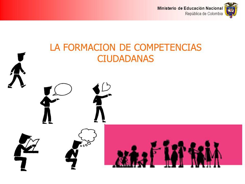 LA FORMACION DE COMPETENCIAS CIUDADANAS