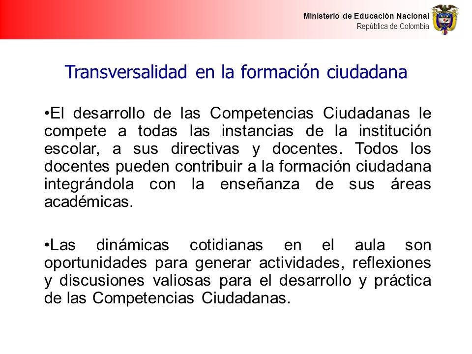 Transversalidad en la formación ciudadana