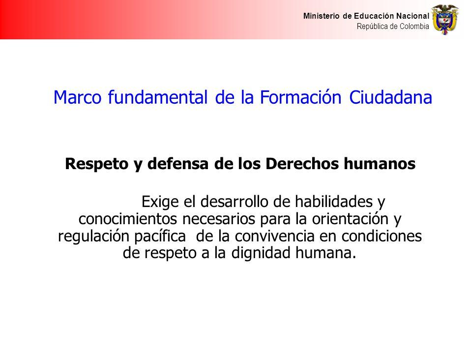 Marco fundamental de la Formación Ciudadana