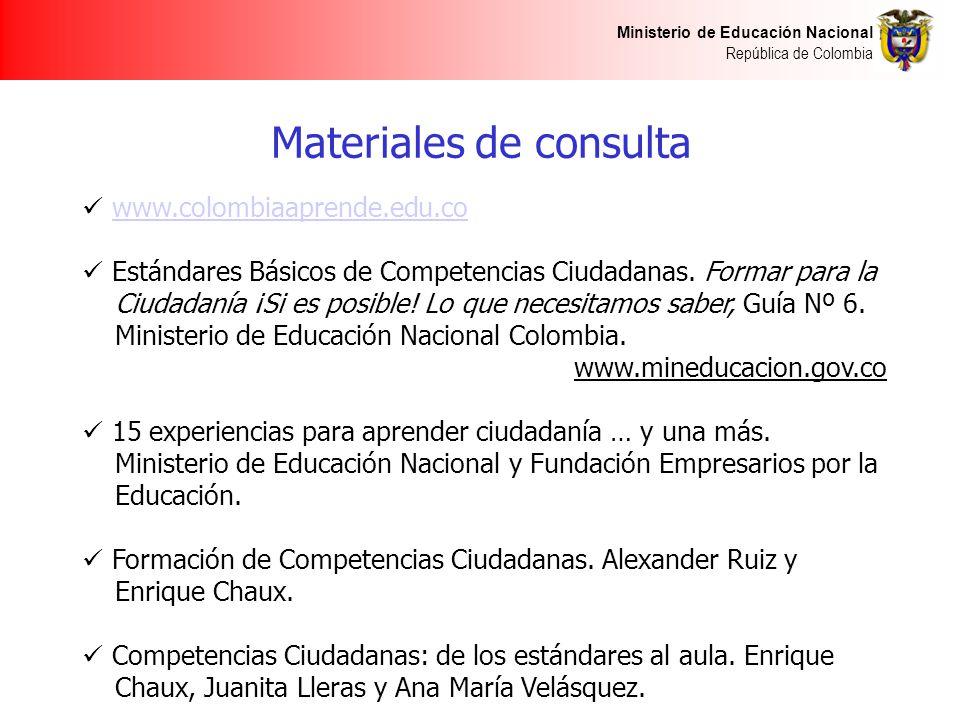 Materiales de consulta