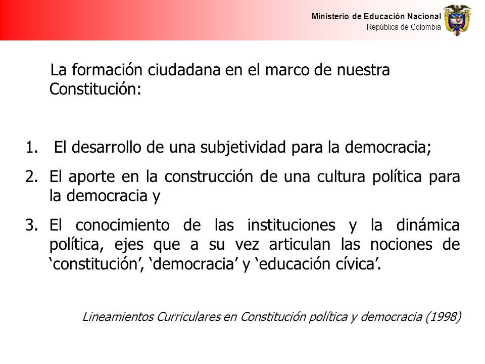 La formación ciudadana en el marco de nuestra Constitución: