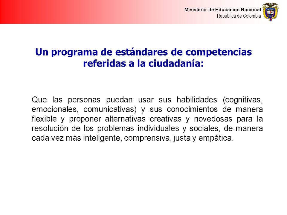 Un programa de estándares de competencias referidas a la ciudadanía: