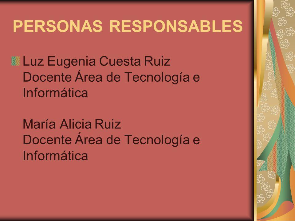 PERSONAS RESPONSABLES
