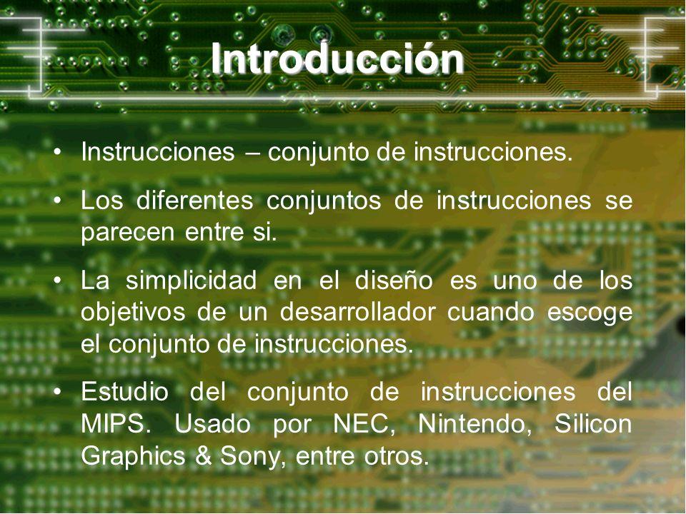 Introducción Instrucciones – conjunto de instrucciones.