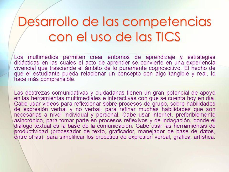 Desarrollo de las competencias con el uso de las TICS