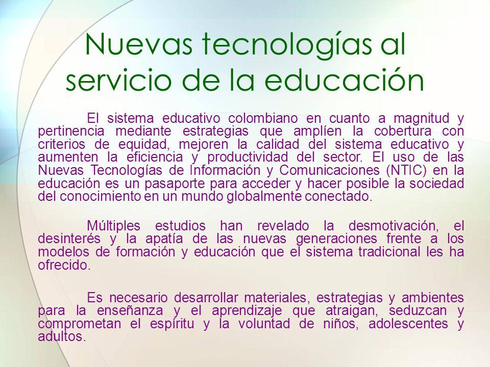 Nuevas tecnologías al servicio de la educación