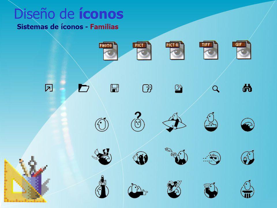 Diseño de íconos Sistemas de íconos - Familias