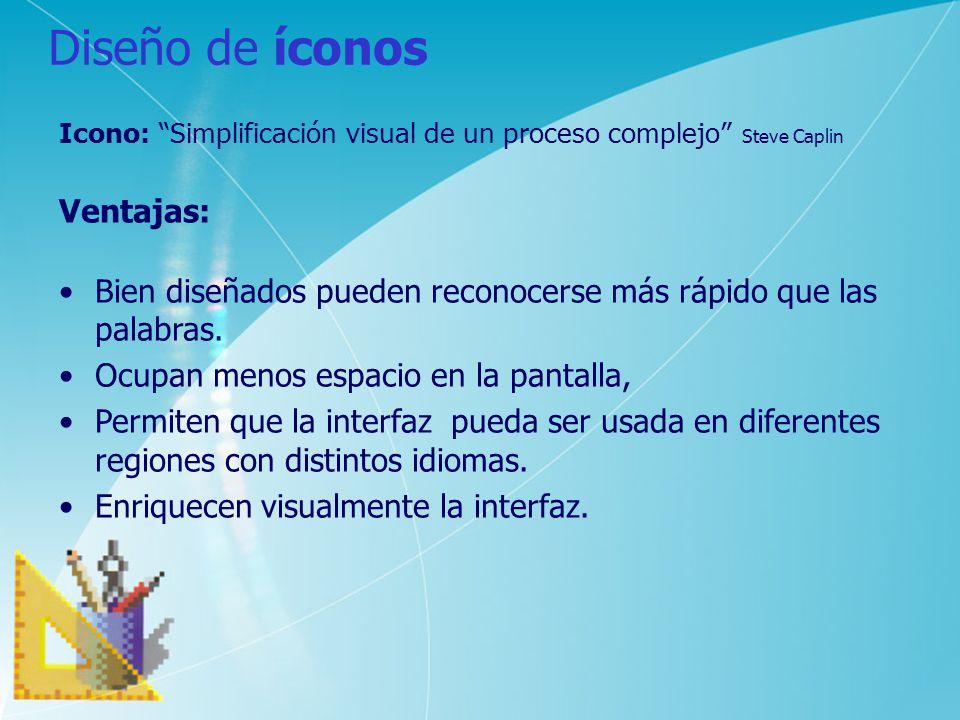 Diseño de íconos Ventajas: