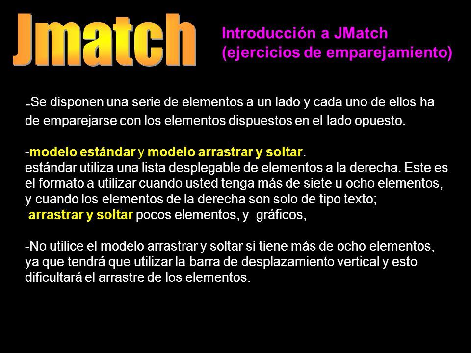 Jmatch Introducción a JMatch. (ejercicios de emparejamiento)