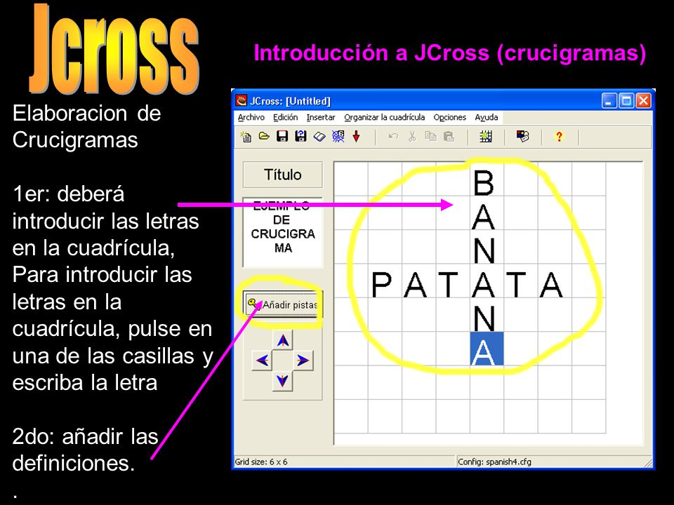 Jcross Elaboracion de Crucigramas
