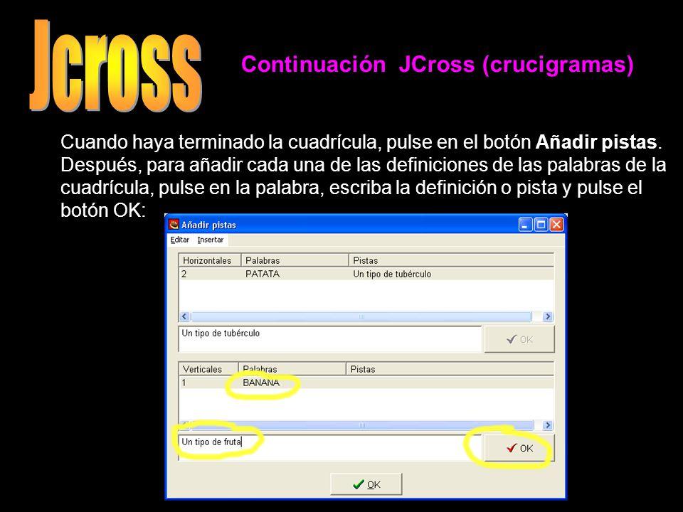 Jcross Continuación JCross (crucigramas)