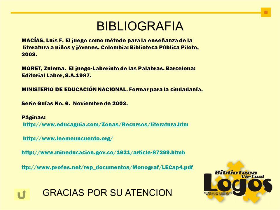 BIBLIOGRAFIA GRACIAS POR SU ATENCION