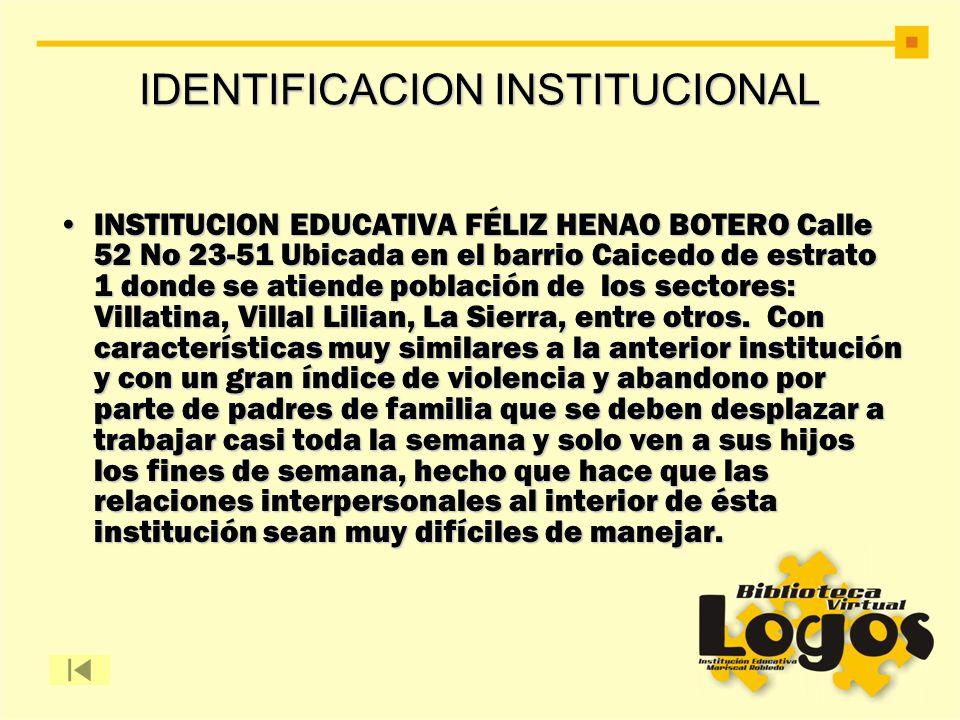 IDENTIFICACION INSTITUCIONAL