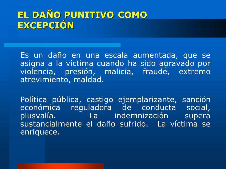 EL DAÑO PUNITIVO COMO EXCEPCIÓN