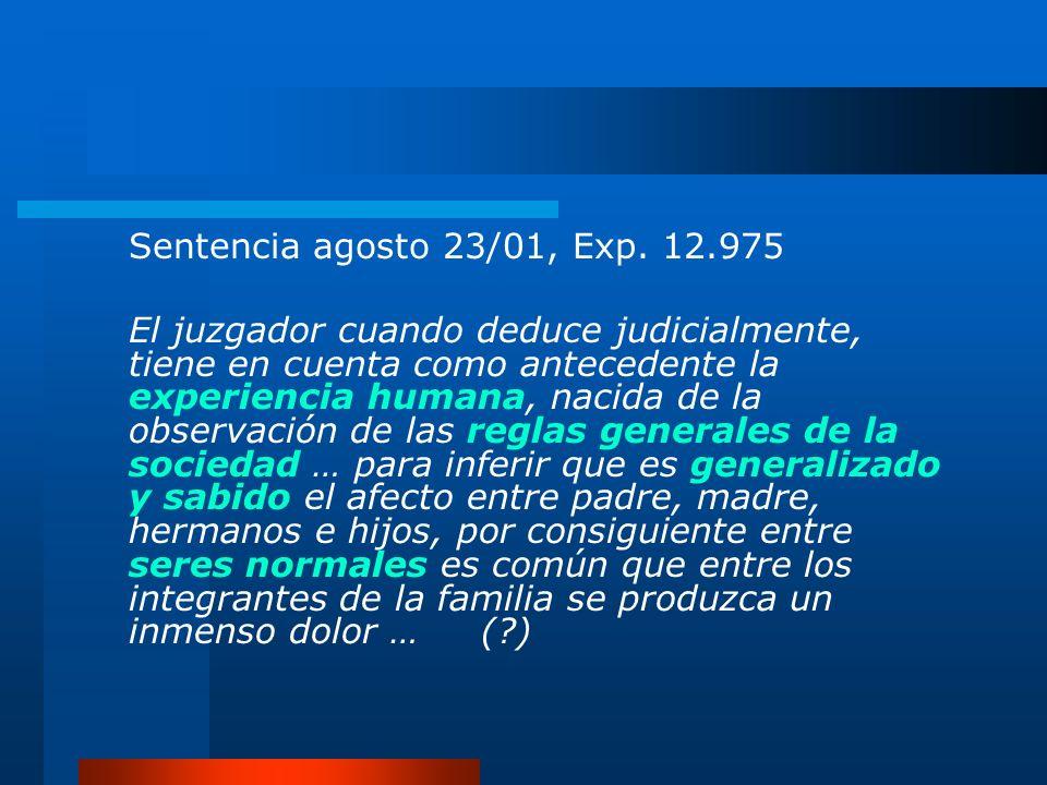 Sentencia agosto 23/01, Exp. 12.975